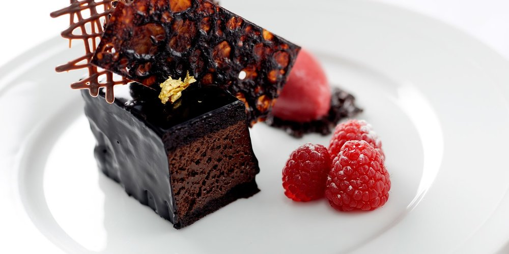 The amazing chocolate mousse cake from Great British Chefs