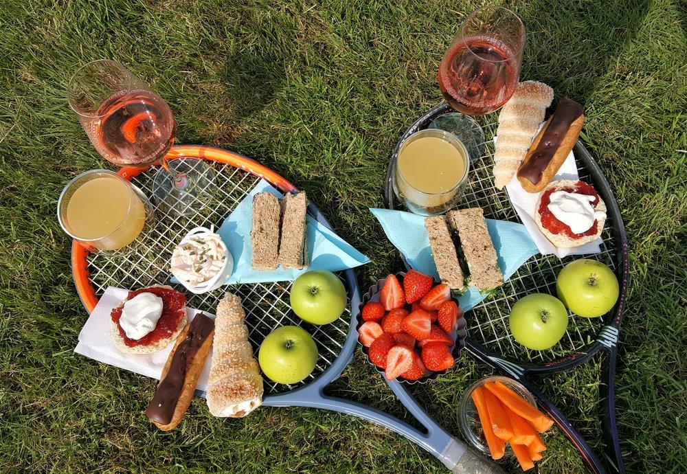 Afternoon tea or tennis?