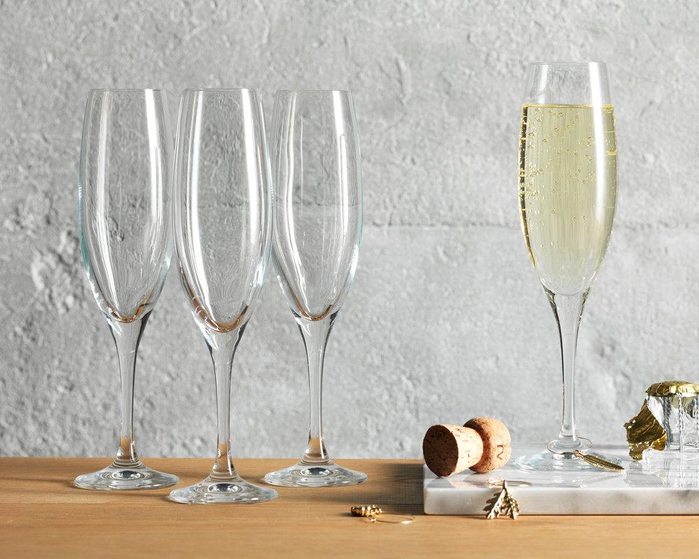 Judge Champagne Flutes, essential for celebrating
