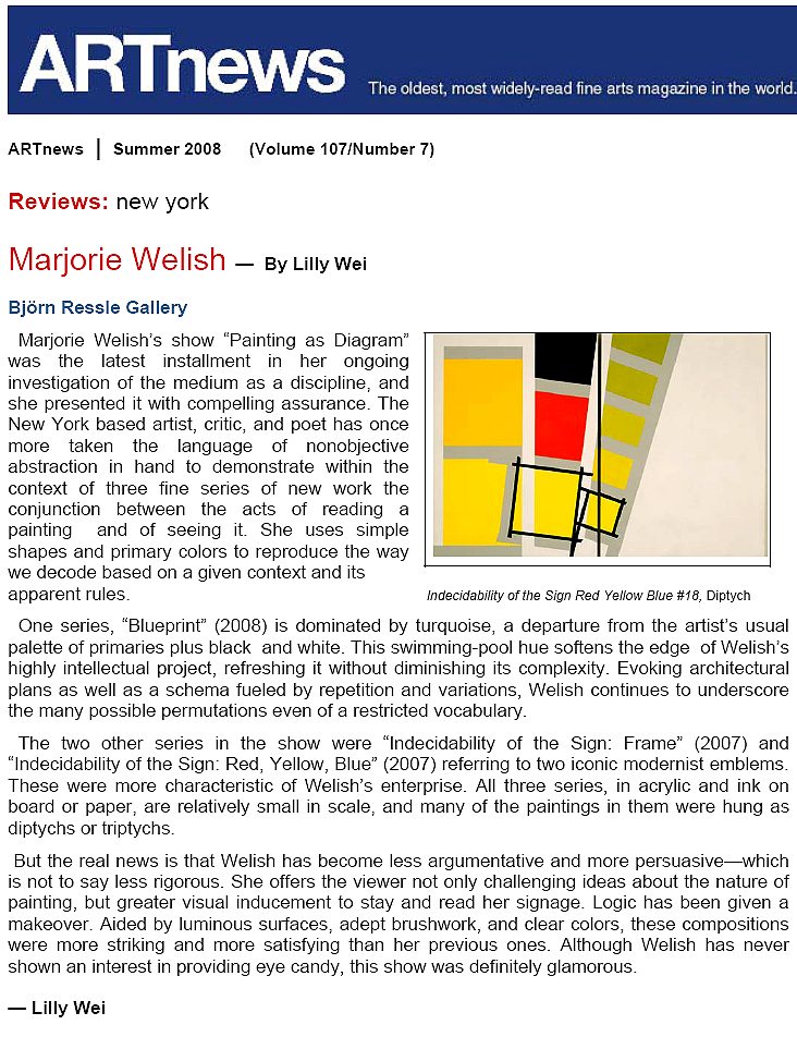 Welish review in Artnews by Lilly Wei Summer 2008.jpg