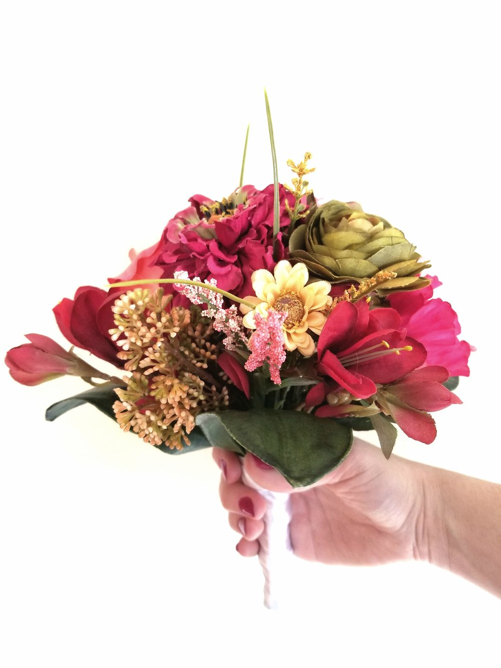 One of two bouquets provided by Nicki's Knacks Floral Crafts