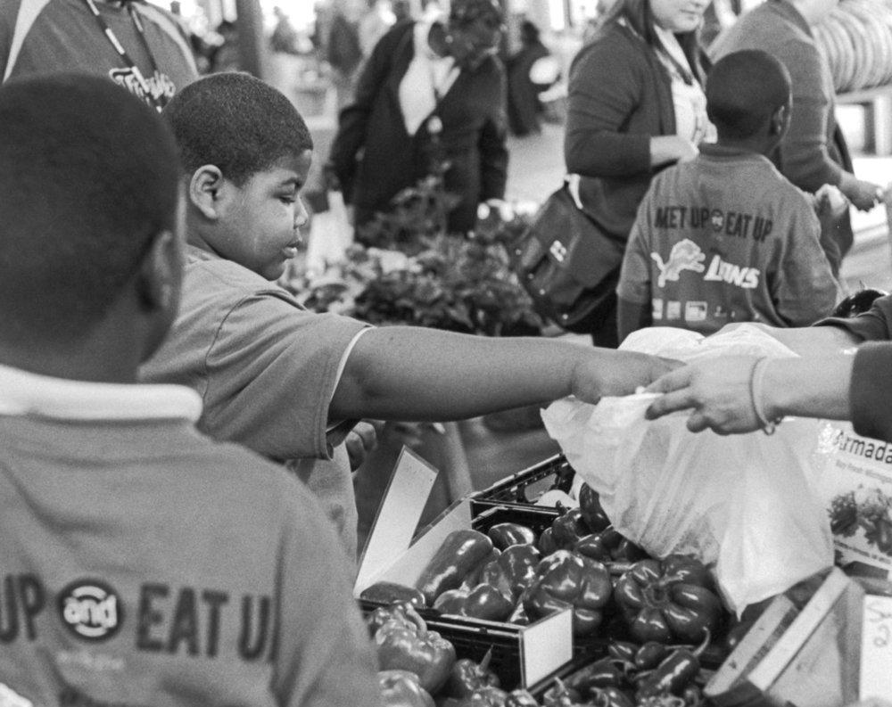 Buying Produce - Eastern Market, Detroit MI