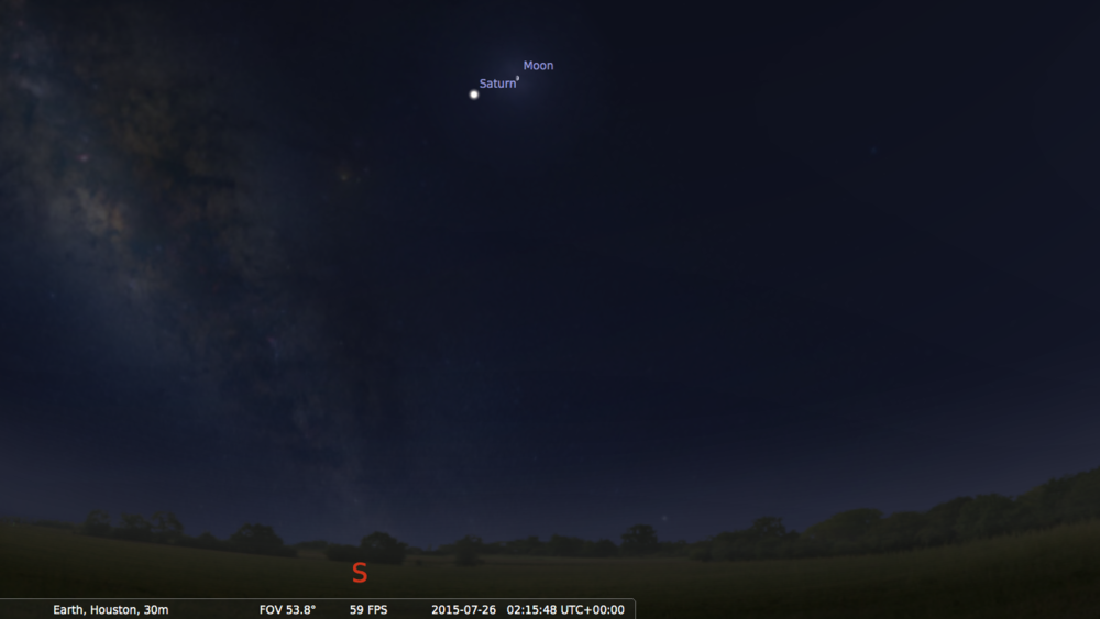 screenshot from Stellarium