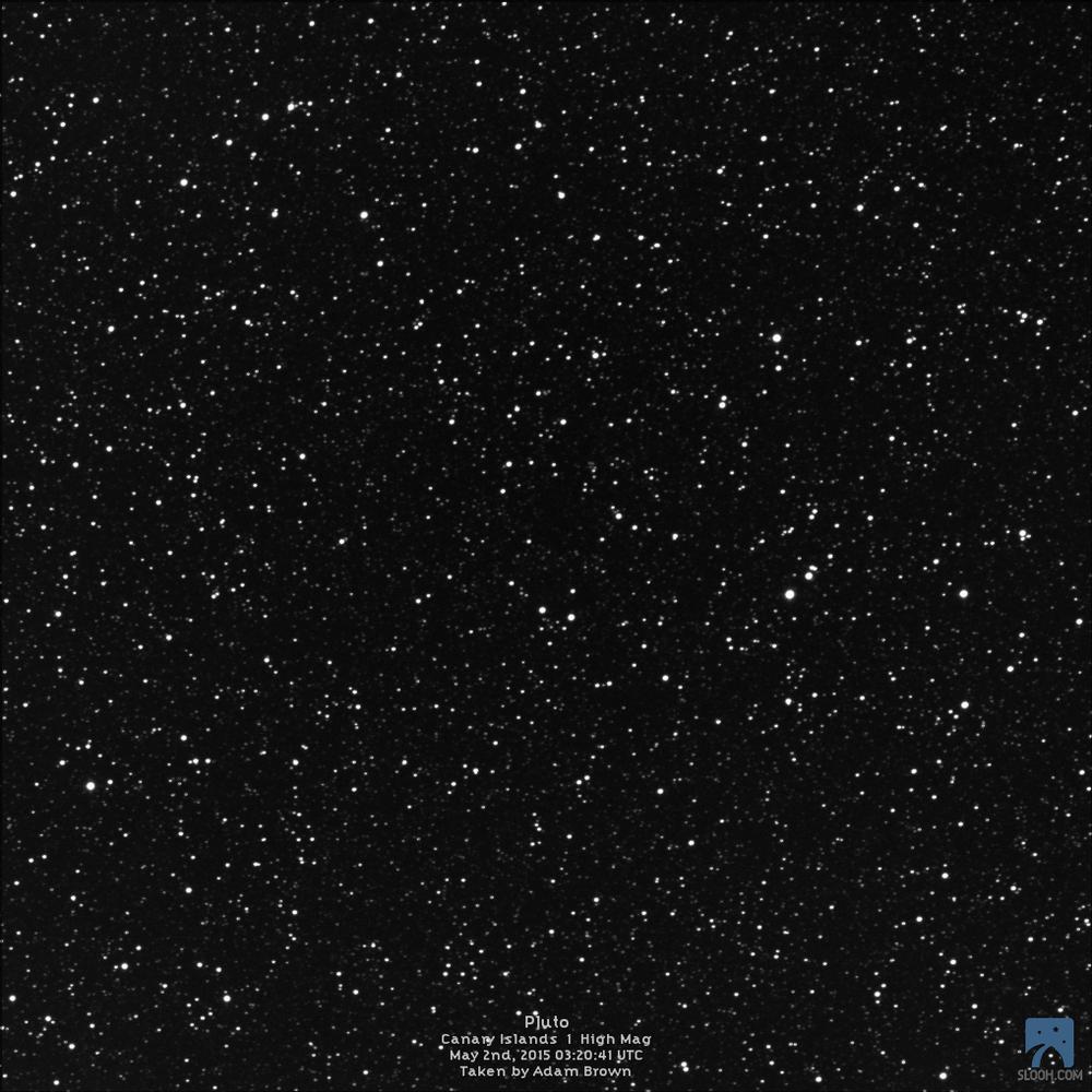 Where's Pluto?  Image Credit: Adam Brown