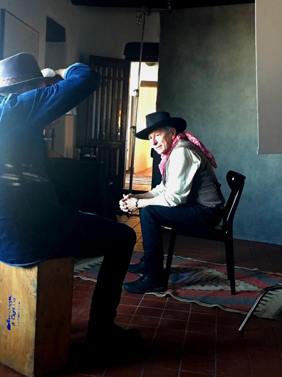 Danny Clinch and Joe Ely, El Rey Hotel, Santa Fe, NM 2019