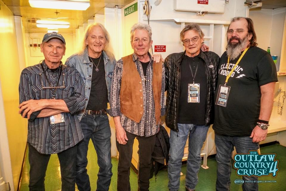 Butch Hancock, Jimmy Gilmore, Joe Ely, Terry Allen, and Steve Earle at Outlaw Cruise