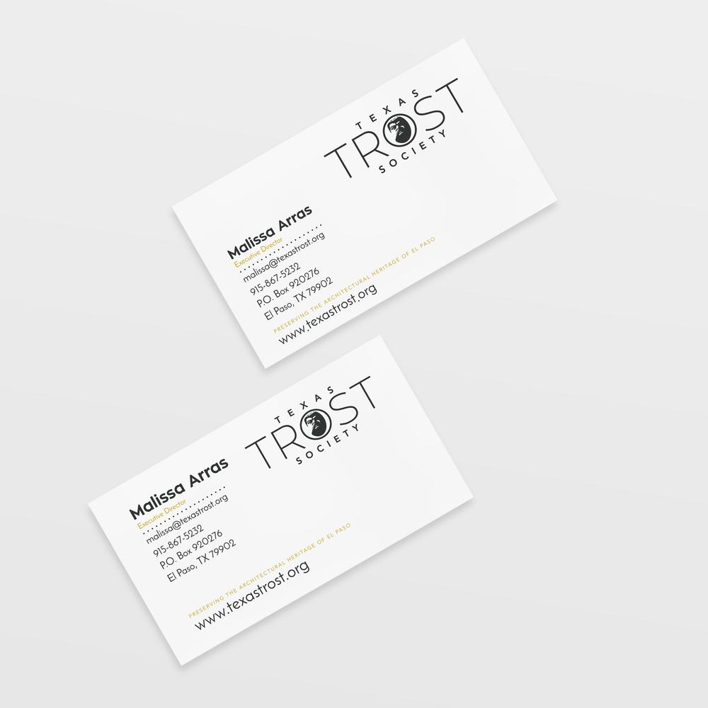 Logo identity design texas trost society business cards magicingreecefo Choice Image