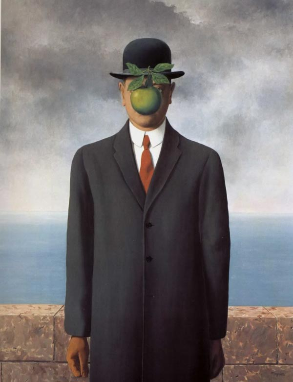 Our source of inspiration for the suits comes from The Son of Man by Rene Magritte