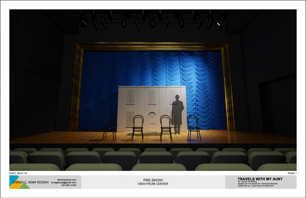 "Set rendering from our Scenic Designer, Steven Kemp, featuring ""The Monster"""