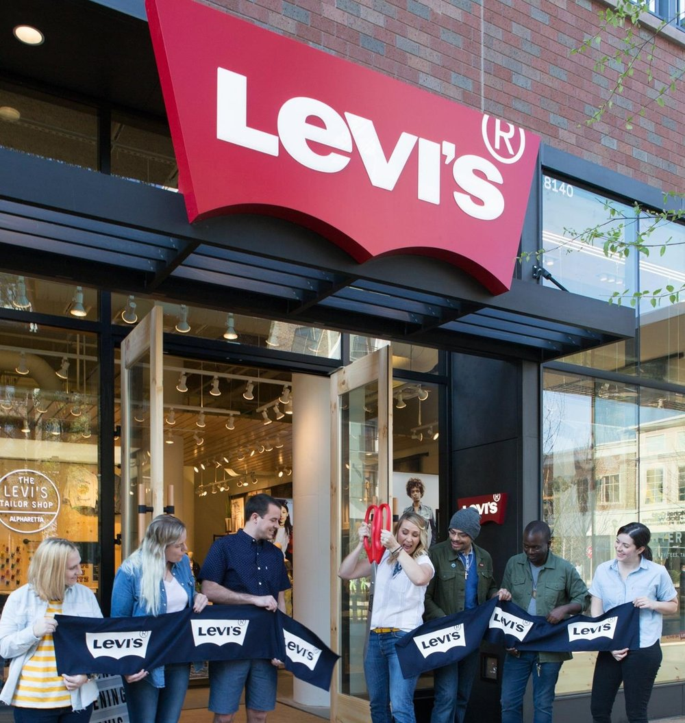 Denim cutting at Levi's newest outpost: Avalon in Alpharetta, GA