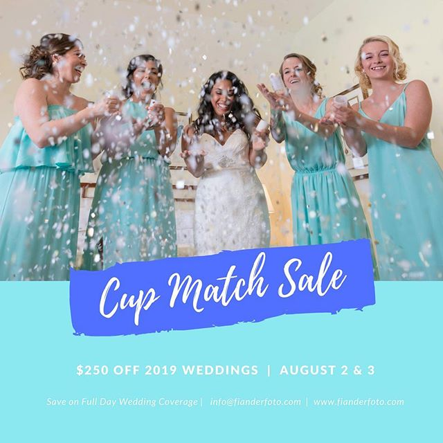 "Save on ""Full Day Wedding Coverage"" over the Cup Match Holiday 