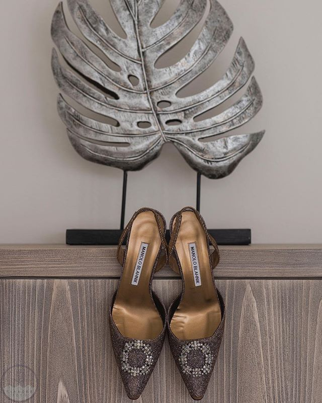 It's Friday! Grab your dancing shoes! How cool are these @manoloblahnikhq ?! The perfect pair of wedding kicks for an island wedding!