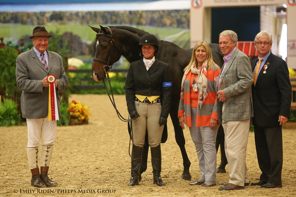 Jennifer Alfano and Candid earned the Green Conformation Hunter Reserve Championship.