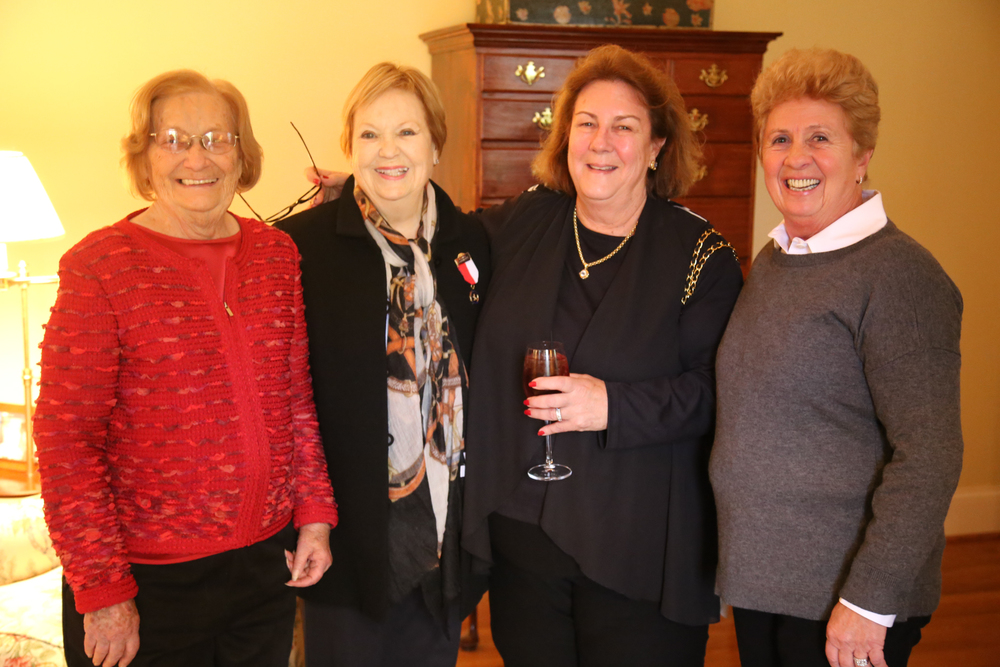 From left to right: Helen Lenahan, Billie Steffee, Susie Schoellkopf and Sharon O'Neill celebrate Jennifer Alfano's 25-year partnership with SBS Farms, Inc.