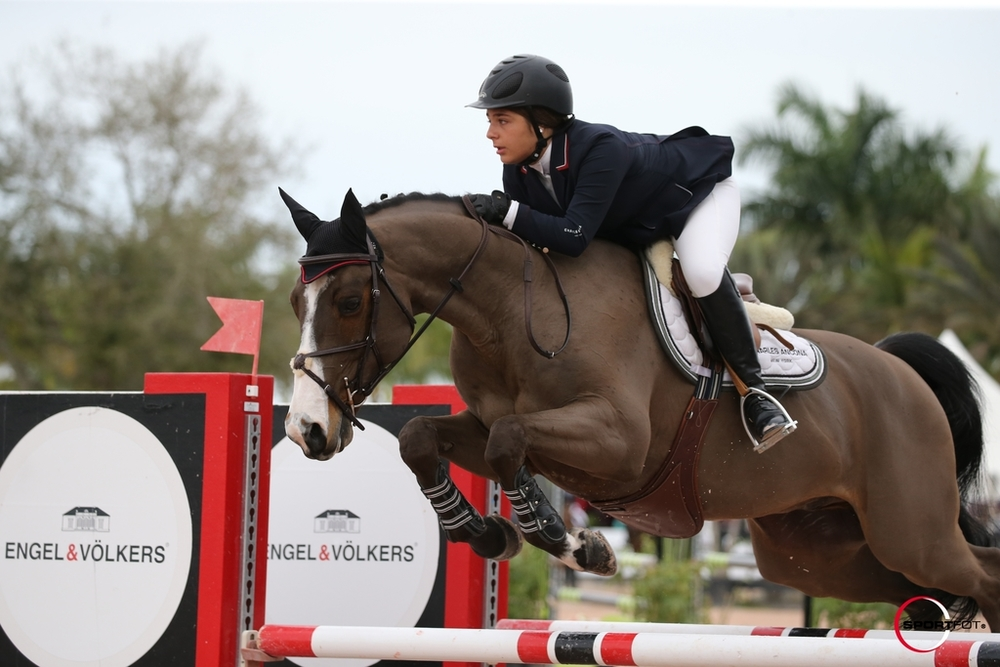 Paige Kouimanis and Lexus captured second place during WEF 3 in the $10,000 Adult Amateur 18-35 Jumper Classic. Photo by: SportFot