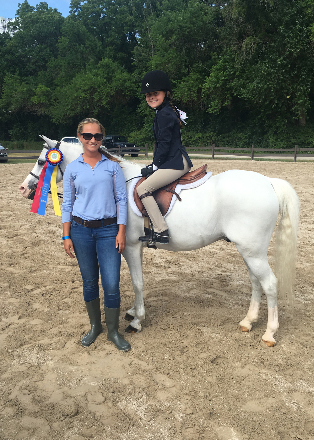 Molly Gfroerer and Top Hat with trainer Alicia Heberle