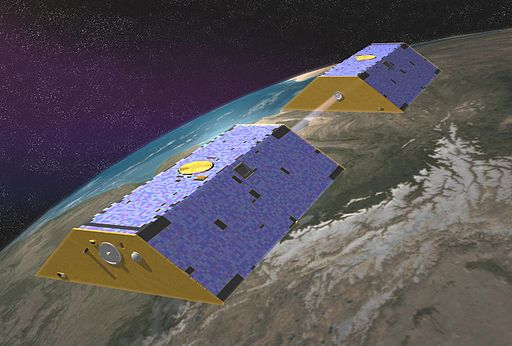Artist Representation of the GRACE satellites  Image Credit: NASA (http://photojournal.jpl.nasa.gov/catalog/PIA04235)