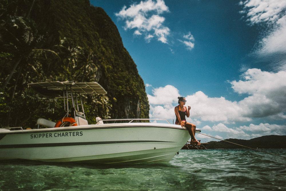 Skipper Charters. Pinagbuyutan Island, El Nido, Palawan.