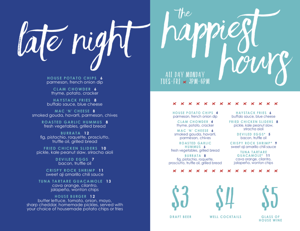 THE MONTAUK LATE NIGHT & HAPPY HOUR MENU