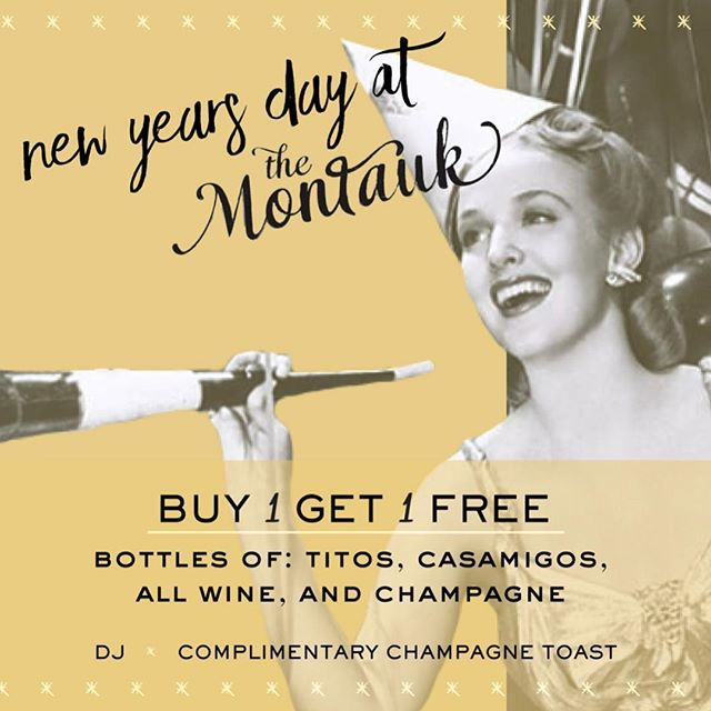 Pick your poison, 1/2 off or buy one get one free bottles of Tito's, Casamigos, and all champagne and wine. Happy New Years!