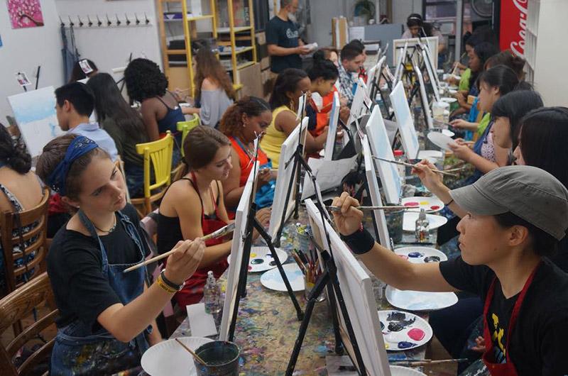 Painting Lounge BYOB class