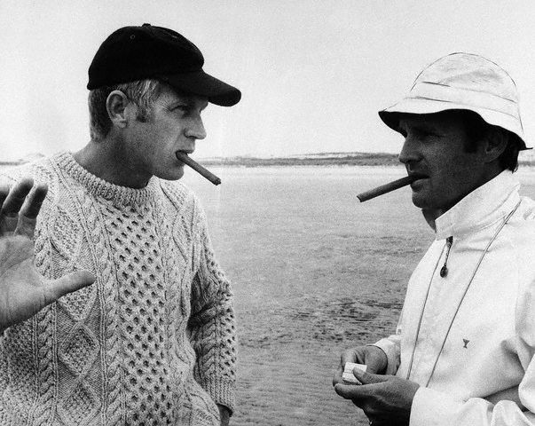 "For those unaware of what an ""Aran sweater"" is, here's Steve McQueen in an Aran sweater, being a babe."