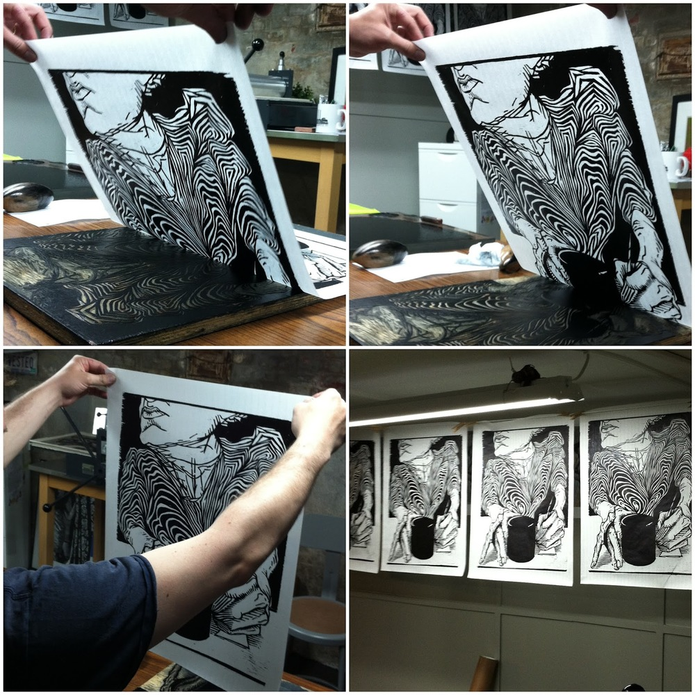 "The process for pulling a print of ""Arabica"""