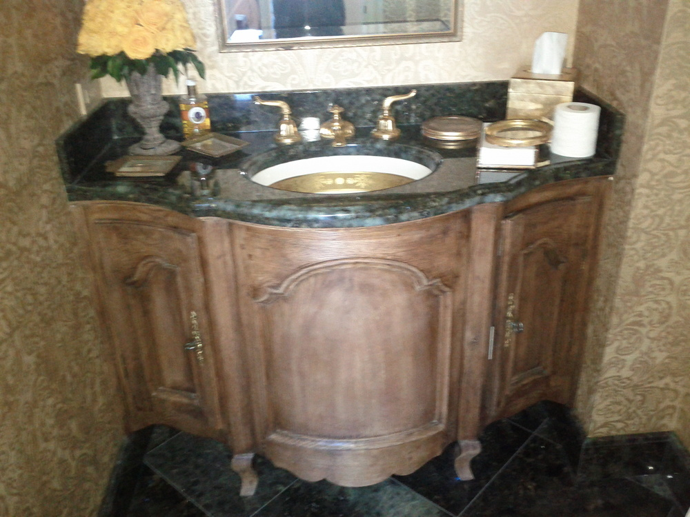 Antique Inspired Bathroom Vanity