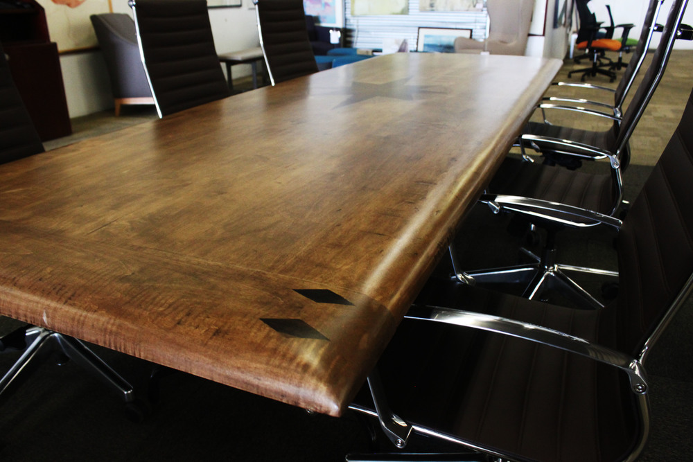 Starburst Inlay Conference Room Table