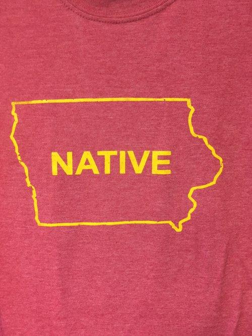 Iowa Native Hea Cardinal Red Gold T Shirt 515 Supply Co