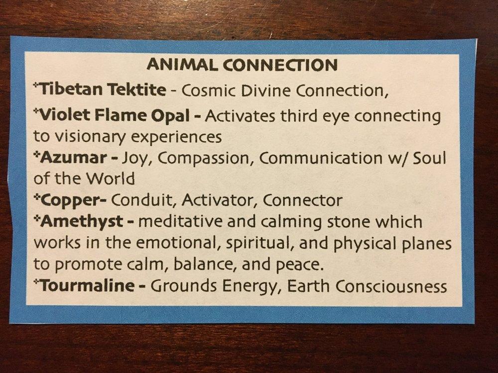 Favorite Stones for Animal Grid