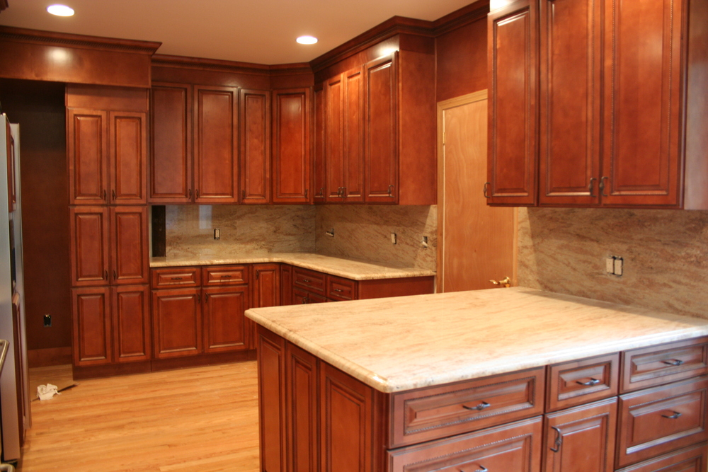 Full granite backsplash