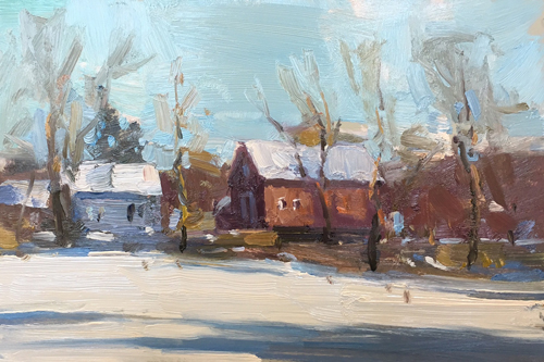 'Winter Sunlight' 6x9 Oil