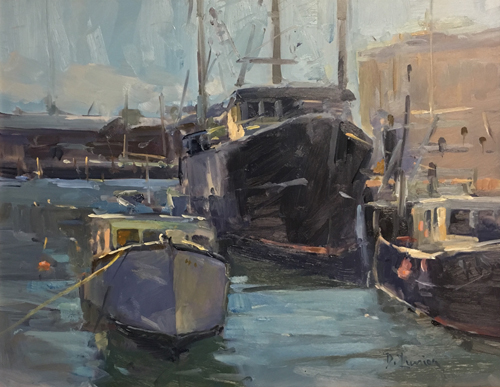 'Windy Harbor' 11x14 Oil $1600