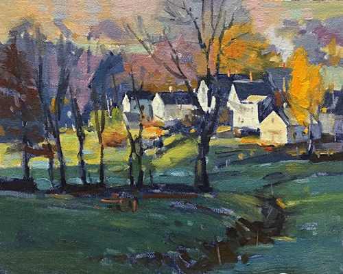 'Valley View' 8x10 Oil $950