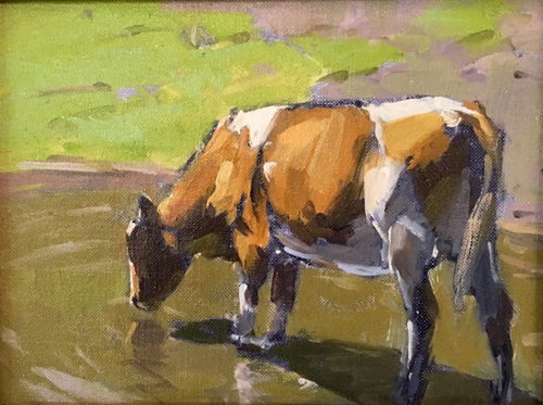 'Kay's Cow' 6x8 Oil SOLD