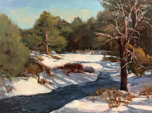 'Winter Brook' 9x12 Oil $750