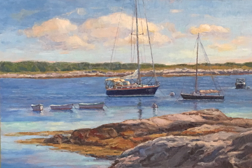 'Star Island Harbor' 12x18 Oil $1200