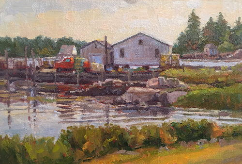 'Lobster Shacks' 6x9 Oil SOLD