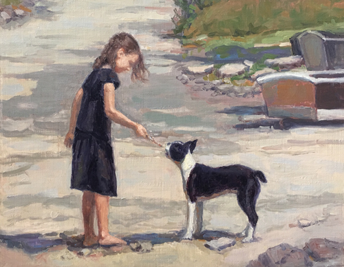 'Beach Buddies' 11x14 Oil SOLD