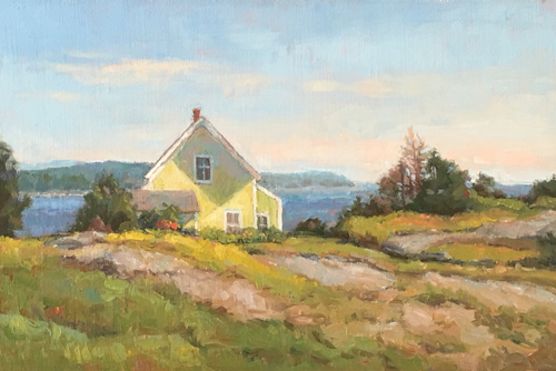 'The Yellow House' 9x12 Oil SOLD