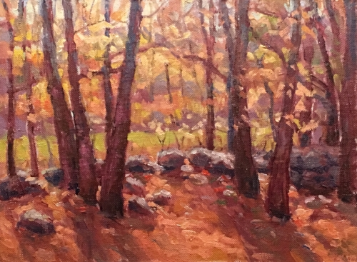 'Autumn Light' 6x8 Oil $450