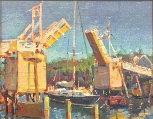 'Perkins Cove Footbridge' 8x10