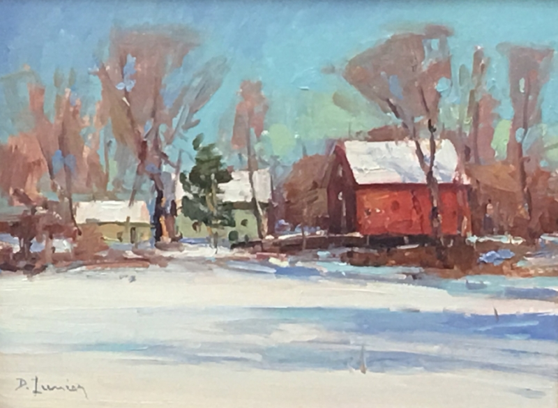 'Bright Winter Morning' 9x12 Oil $1100