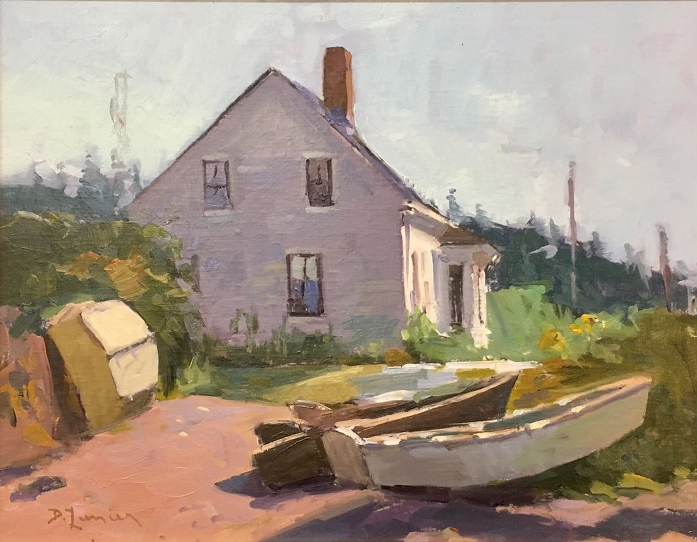 The Vaughn House Monhegan, oil on linen by David Lussier
