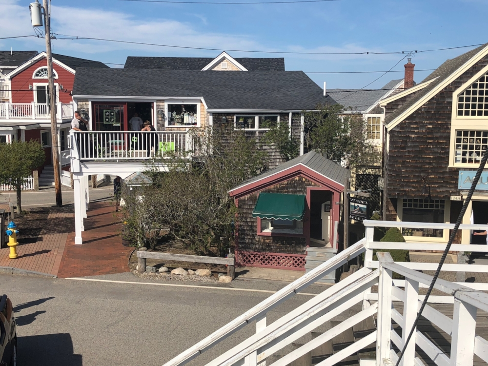 A view of the gallery from the iconic footbridge in Perkins Cove.