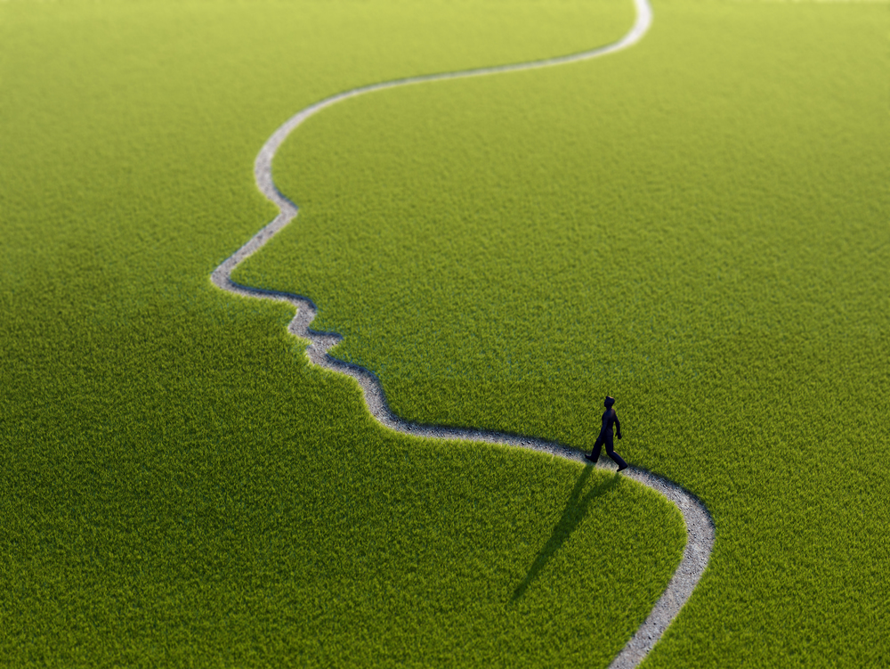 Individual Walking Down Face Path - shutterstock_191785520.jpg