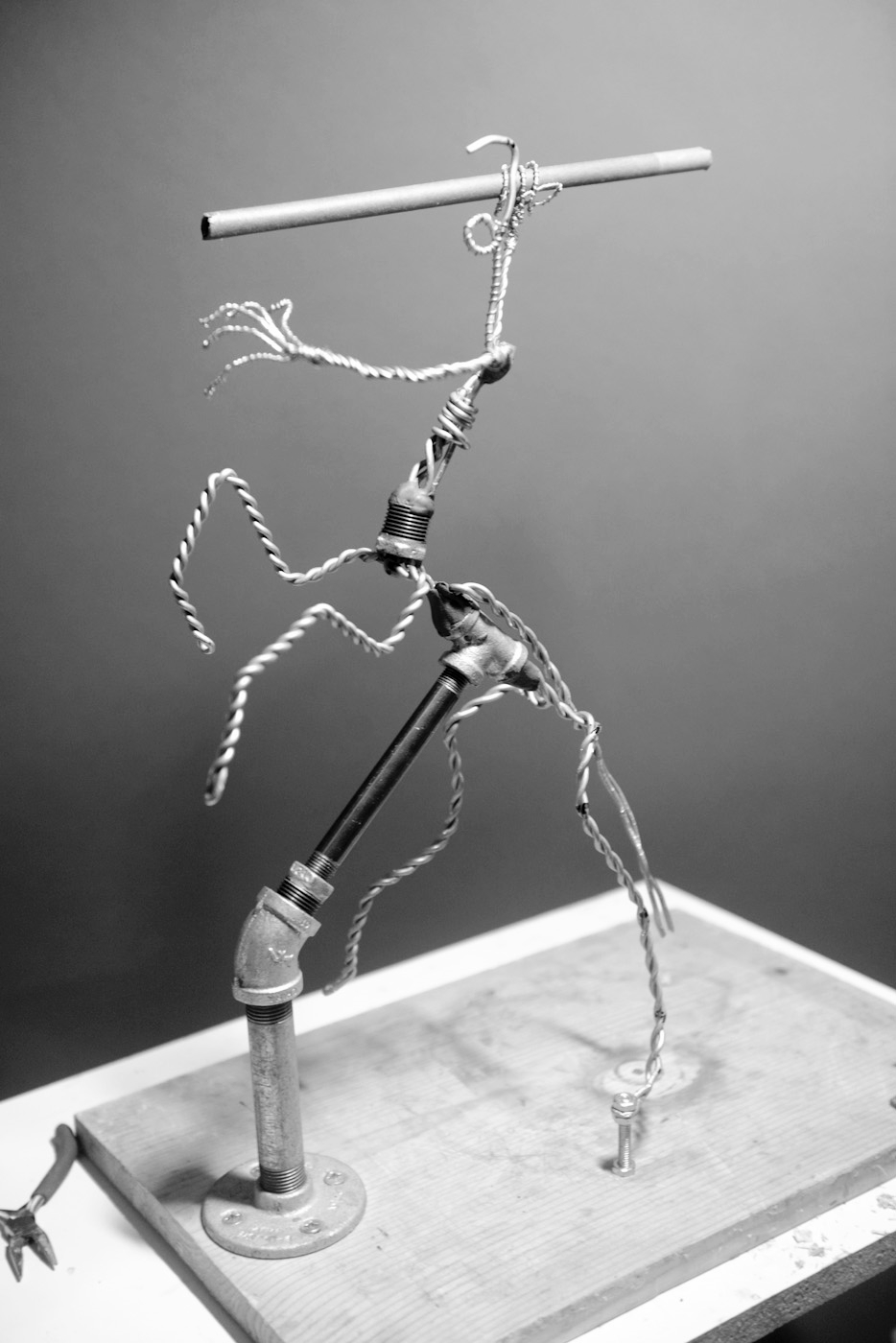 Armature frame to support clay.