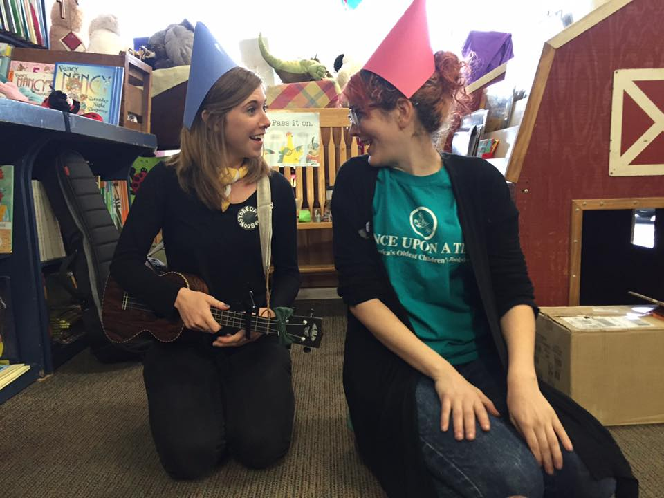 At author/illustrator Ashlyn Anstee's NO NO GNOME book launch this spring at Once Upon A Time Bookshop.