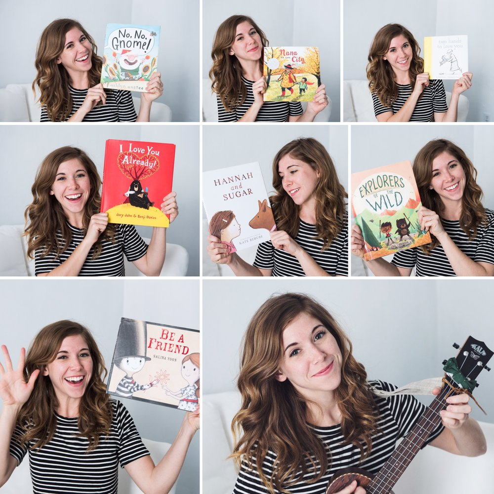 The books adapted to song on the album were selected for their themes of kindness, friendship, and creativity.